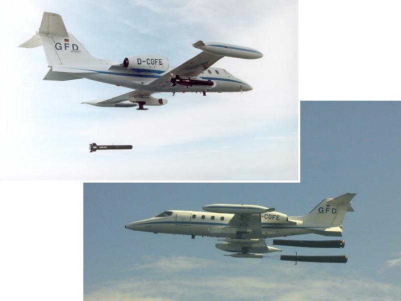 Archivbilder: Die Learjets können Schleppsäcke der Typen TGL-3C und TGL-3D sowie Schleppkörper des Typs DO-SK6 einsetzen © GFD GmbH