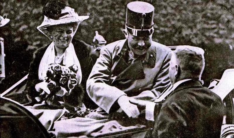 Die Opfer: Erzherzog Franz Ferdinand und seine Gemahlin Sophie Chotek, Herzogin von Hohenberg