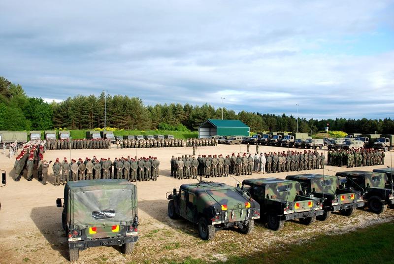 """Die von Österreich geführte """"Task Force Tiger"""" nimmt Aufstellung © Bundesheer"""