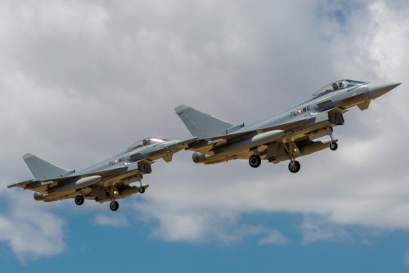Eurofighter Typhoon 7L-WE und 7L-WC im Anflug auf Deci © Onnis Gian Luca