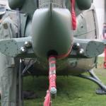 Komponenten der Selbstschutzanlage am Heck der AB-212