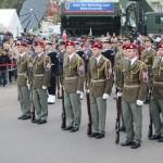 Auch Gardesoldaten anderer Staaten waren angereist - hier die tschechische Garde