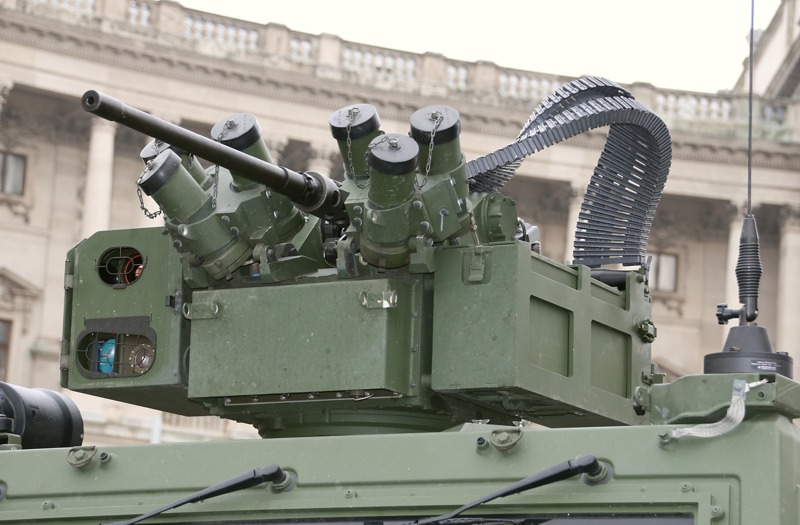 Waffenstation ERCWS-M mit 12,7 mm üsMG