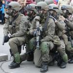 Die 3. Gruppe ist bereits mit Schutzmasken ausgerüstet und in Wartestellung