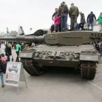 Ein Publikumsmagnet: Kampfpanzer Leopard 2 A4 vom Panzerbataillon 33. Klug möchte es in ein Infanteriebataillon umwandeln