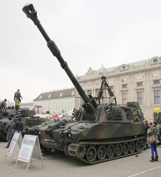 Auf der Abschussliste des Ministers: Die 155 mm Panzerhaubitzen M109 A5Ö sollen massiv reduziert werden