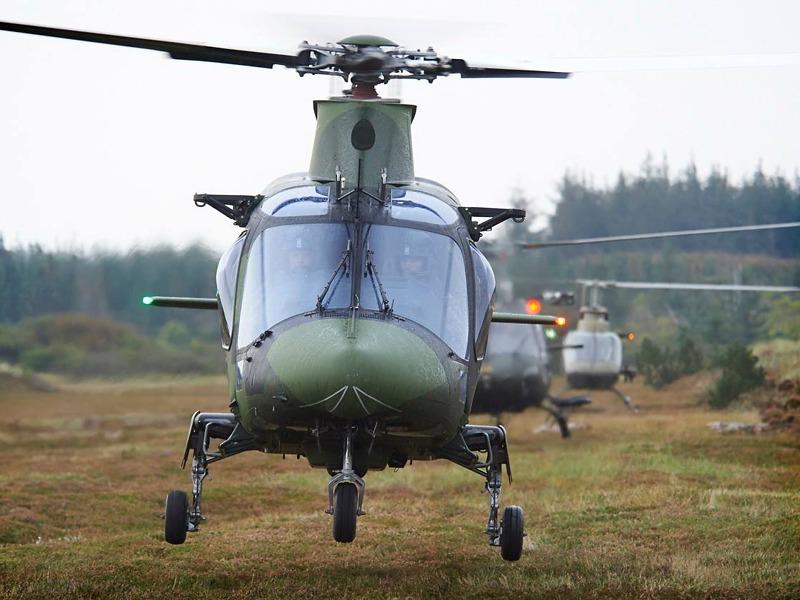 Schwedischer HKP 15 (A109 LUH); dänischer Fennec und österreichischer Kiowa © FLVFOT