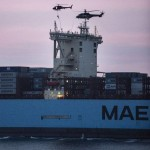 Beübt wurden allerdings auch ganz andere 'Kaliber' wie die Mary Maersk © b.dk / S. Laessoe
