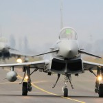 Eurofighter Typhoon 7L-WB und 7L-WC rollen zum Start © Werner P