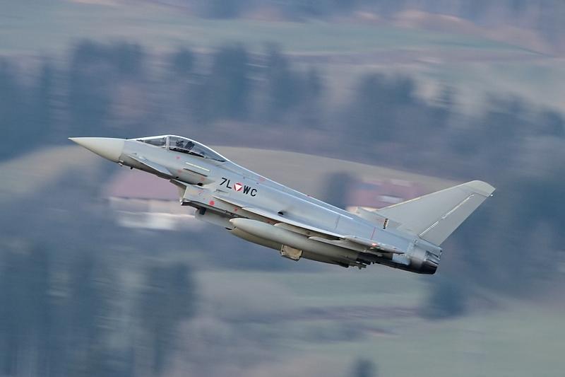 Eurofighter Typhoon 7L-WC startet vom Fliegerhorst Hinterstoisser, Zeltweg © Werner P