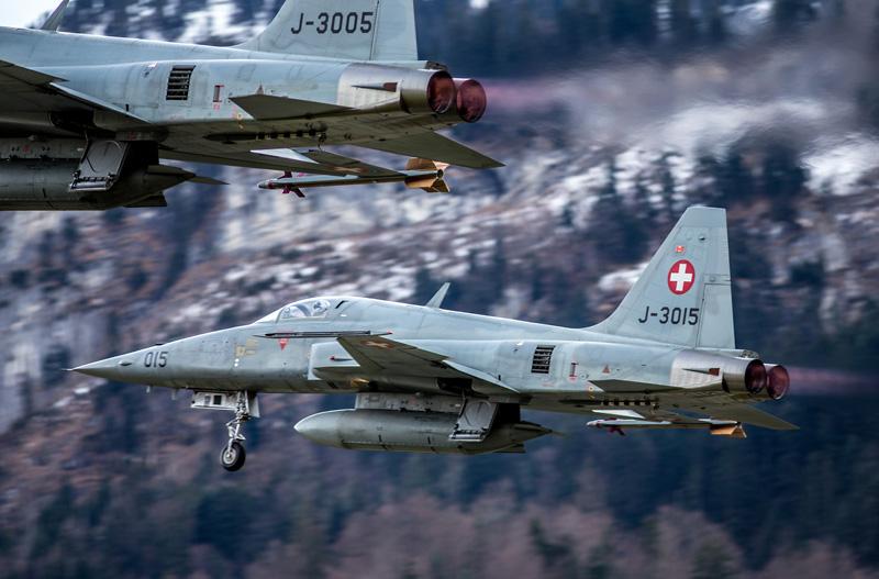 Northrop F-5E Tiger II J-3005 und J-3015 beim Start © Ralf Maurer