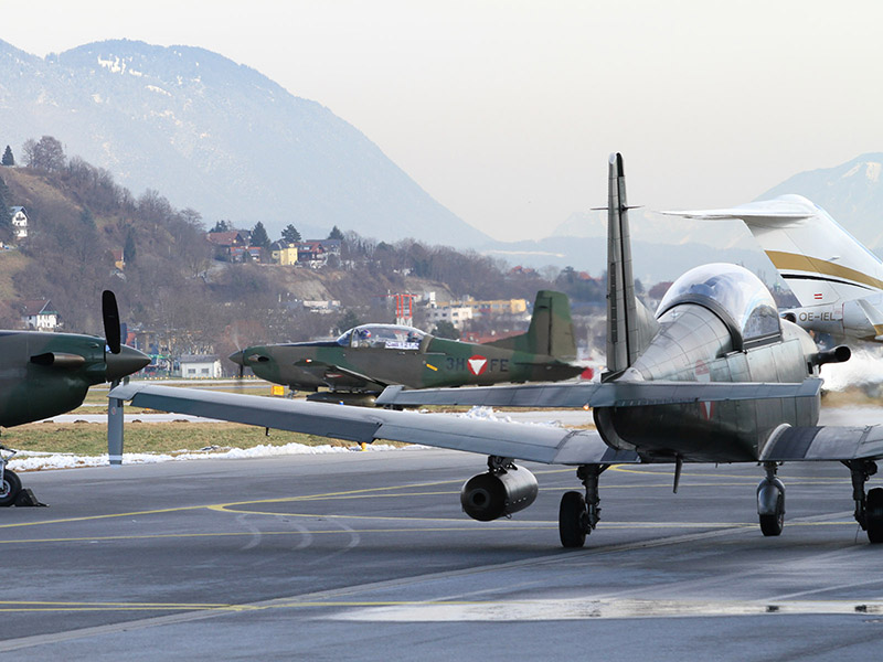 Pilatus PC-7 Turbo Trainer rollen zum Start © Bundesheer