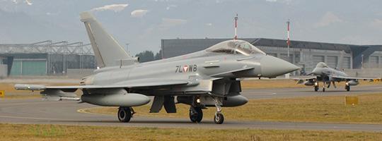 DÄDALUS 2015 - Eurofighter Typhoon schützen den Luftraum über Davos © Stratos