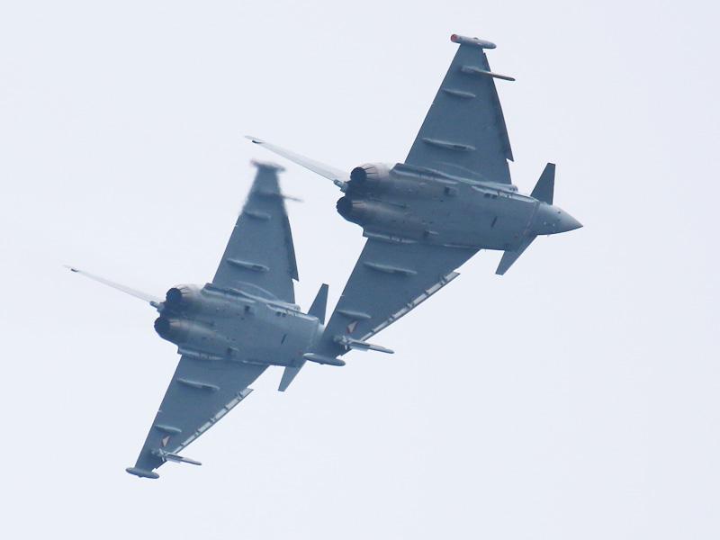 """Show of Force"" - zwei Eurofighter Typhoon sollen den Gegner einschüchtern © Doppeladler.com"