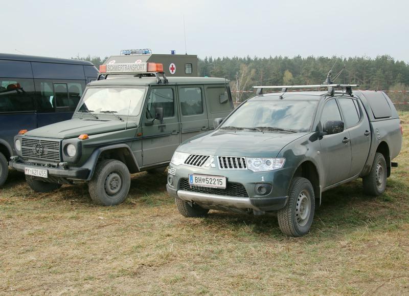 Deutscher Mercedes G und Mitsubishi L200 des Bundesheeres © Doppeladler.com