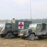 San-Pinzgauer des Bundesheeres und Landrover Defender der Tschechen © Doppeladler.com