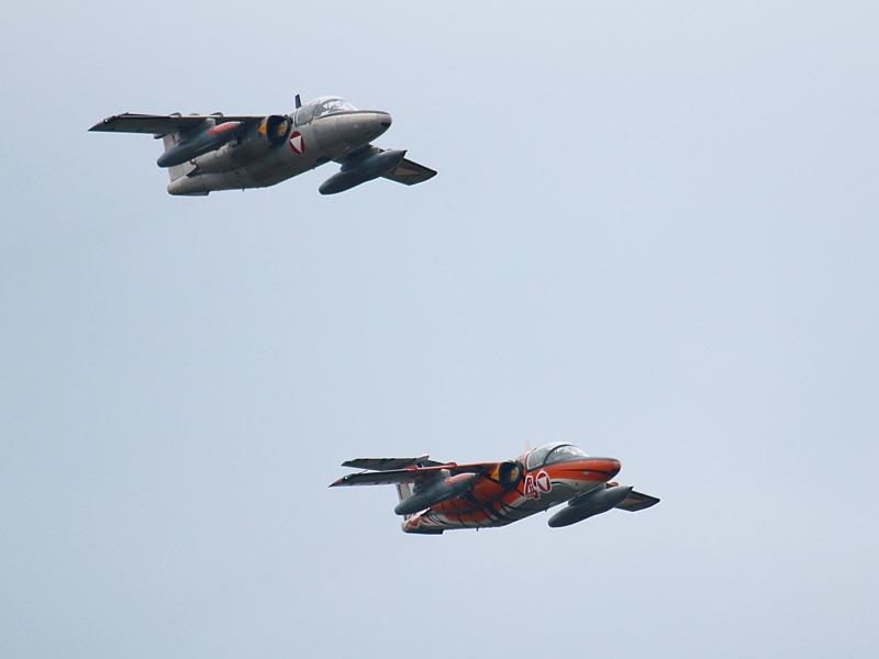 Saab 105 Oe mit je zwei 30 mm Kanonenpods © Doppeladler.com