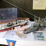 """Die """"alte"""" Donauflottille war im Modell vertreten - links der Donaumonitor SMS Leitha und rechts SMS Samson © Doppeladler.com"""