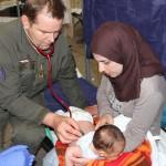 Medizinische Betreuung durch militärmedizinisches Personal © Bundesheer