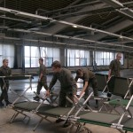 Errichtung von Notunterkünften © Bundesheer