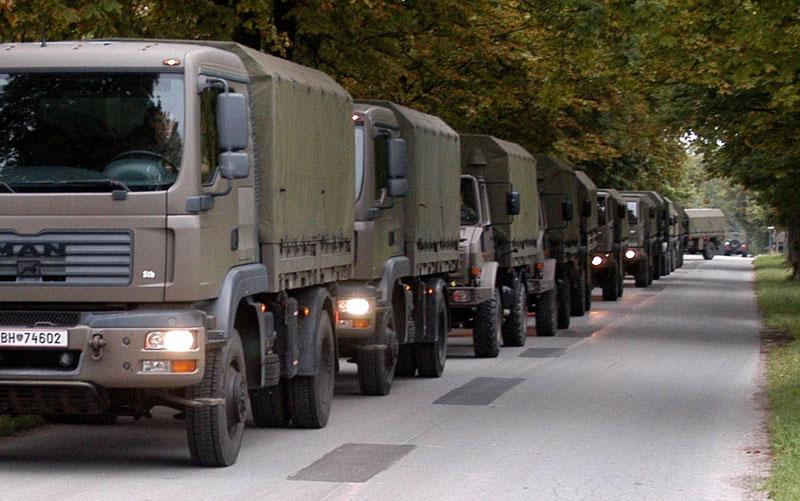 Mobilitätskrise: Zur Einsatzlogistik müssen österreichweit Fahrzeuge zusammengezogen und Übungen abgesagt werden © Bundesheer