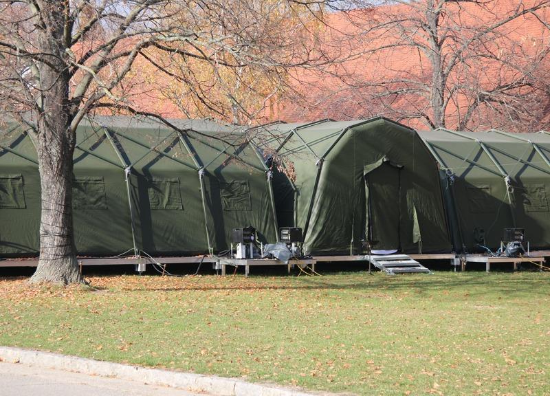 """Das ABC geschützte Zeltsystem COLPRO (""""Collective Protection"""") © Doppeladler.com"""