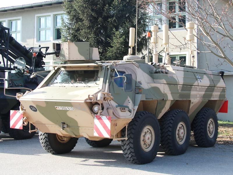 TPz 1A8 Fuchs CG20+. Plattform ist hier der besser gegen Minen und IED geschützte A8 © Doppeladler.com