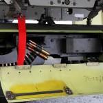 Blick in den linken HMP-250 Gun-Pod der Pilatus PC-7 3H-FE © Bundesheer