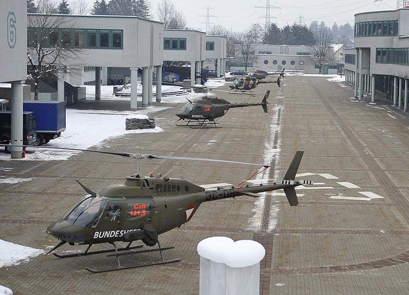 Bell OH-58B in der Walgau-Kaserne in Bludesch © Bundesheer