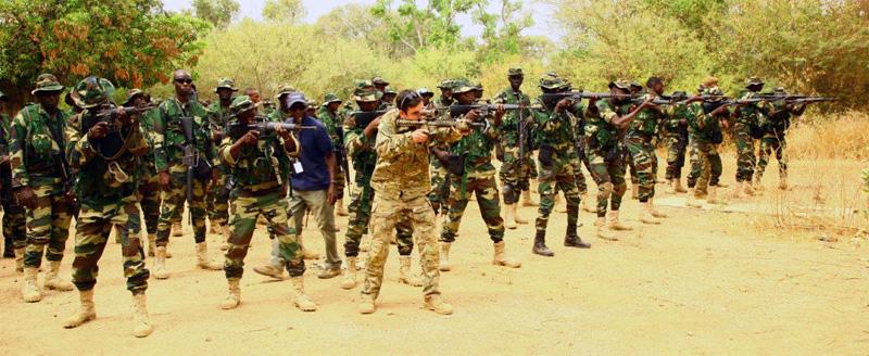 US Soldaten bei Schießübungen mit den Spezialeinheiten Senegals © US Army