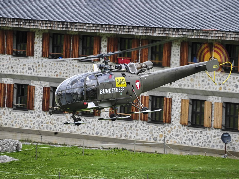 Search & Rescue (SAR) Hubschrauber Sud-Aviation SA 316B Alouette III © Bundesheer