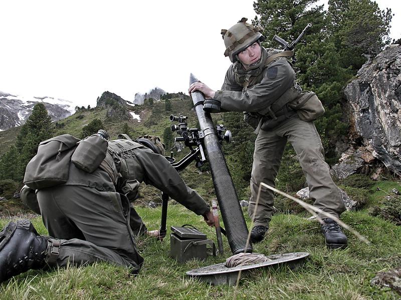 Mittlerer Granatwerfer mGrW 82 im Kaliber 81mm © Bundesheer