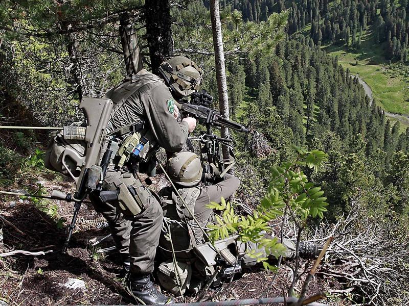 Winkelschießen mit dem 7,62 mm MG-74 © Bundesheer