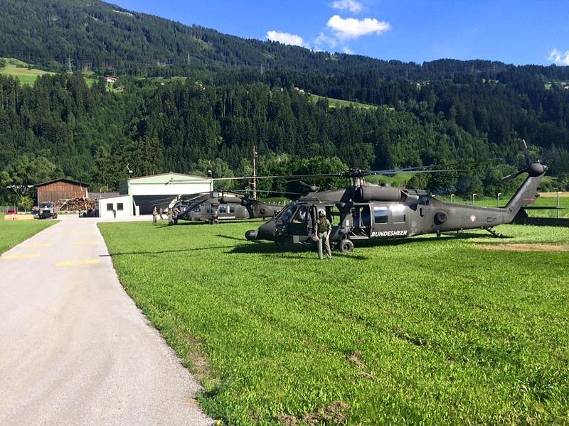 Hochbetrieb statt Schließung: Hubschrauberstützpunkt Schwaz © Bundesheer