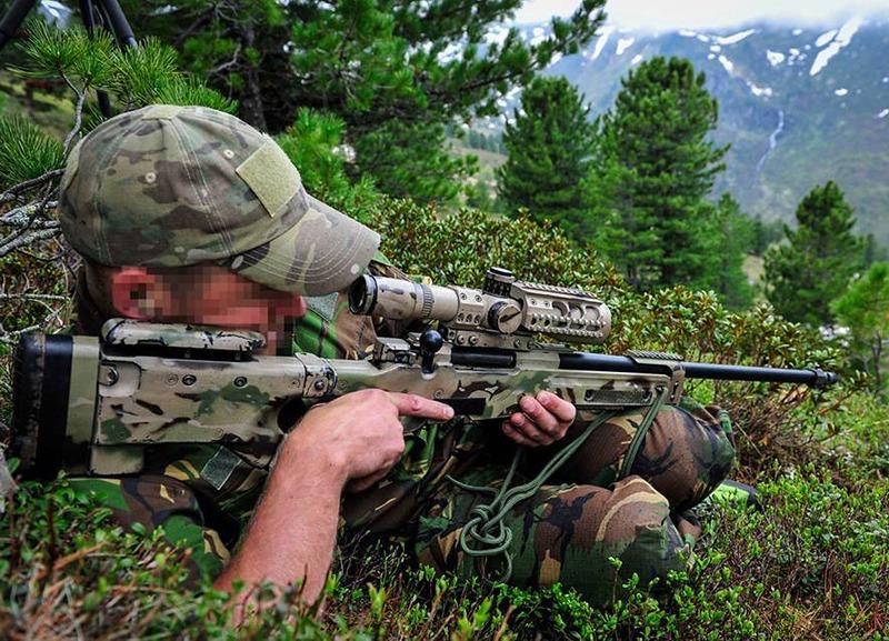 Scharfschütze der niederländischen Spezialeinsatzkräfte © Bundesheer