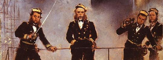 Admiral Tegetthoff in der Seeschlacht von Lissa