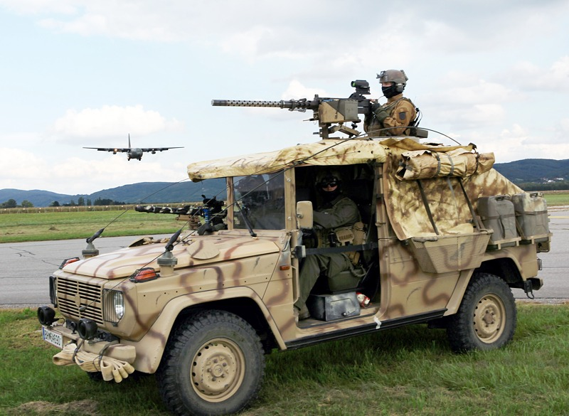 Die Puch G Sandviper wurden 2007/2008 für den Tschad-Einsatz entwickelt © Bundesheer
