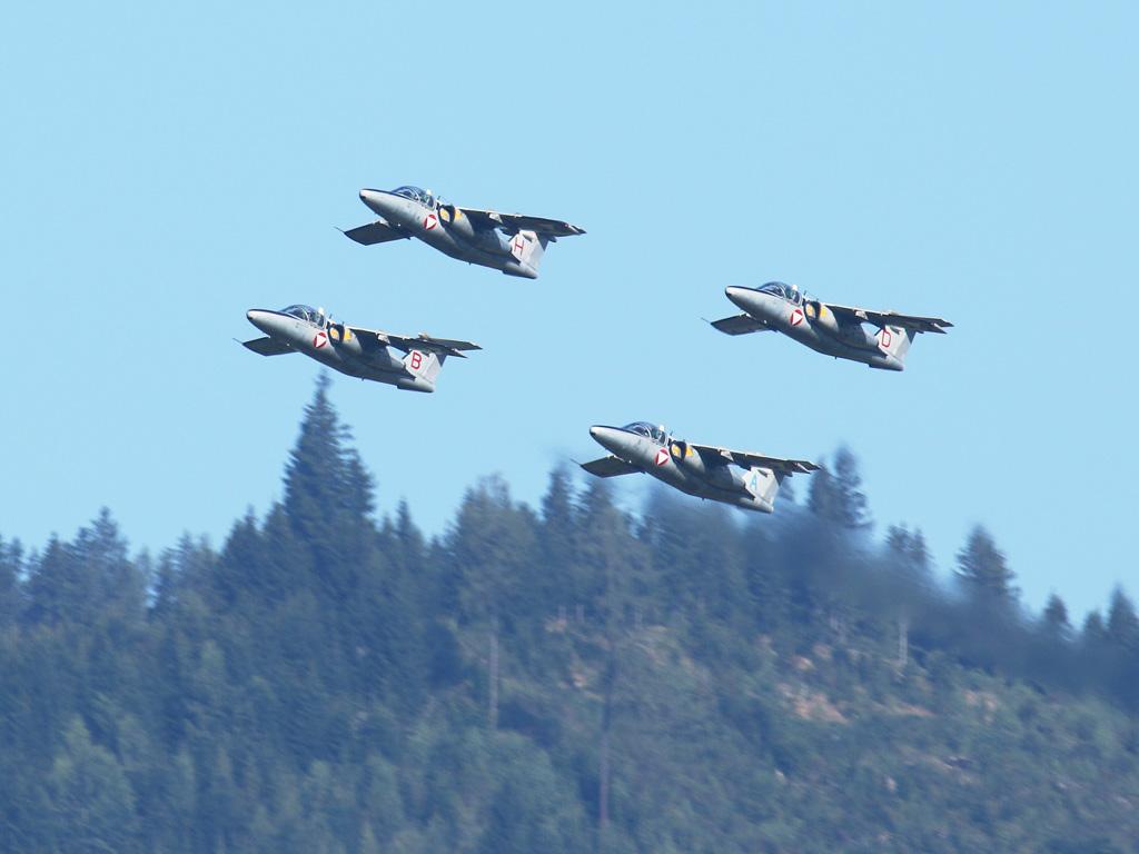 Vierer-Formation Saab 105 Oe © Doppeladler.com