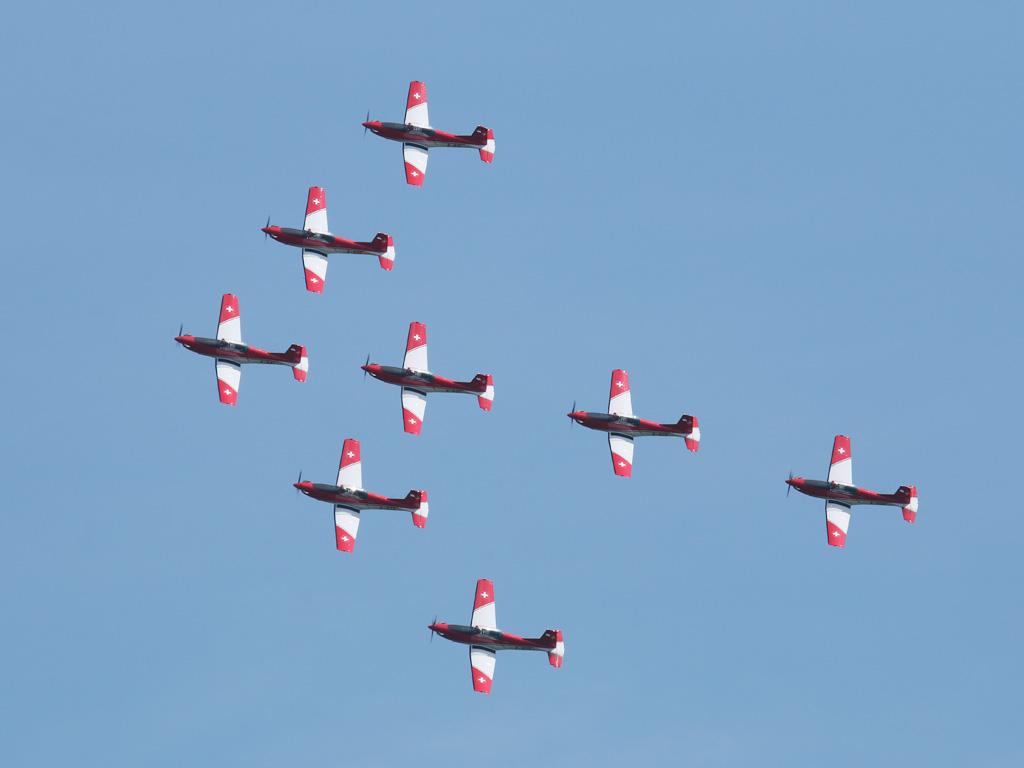 PC-7 Team der Schweizer Luftwaffe © Doppeladler.com