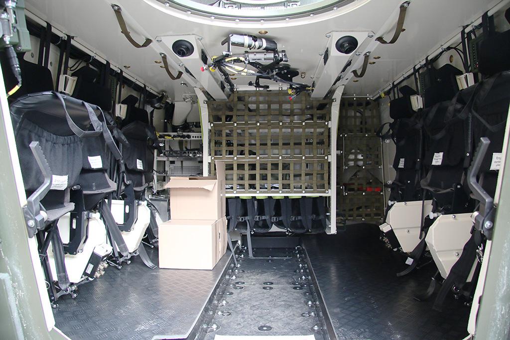 Blick in die hintere Kabine © Doppeladler.com