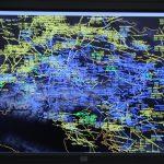 Das Kreidfeuer stellt die Bewegungen im österreichischen Luftraum - und darüber hinaus - dar © Doppeladler.com