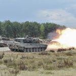 Deutscher Leopard 2A6 am Schießstand © US Army