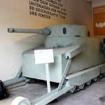 Das 1:1 Modell des Burstyn Motorgeschützes ruft in Erinnerung, dass der Kampfpanzer auch eine österreichische Erfindung war © Doppeladler.com
