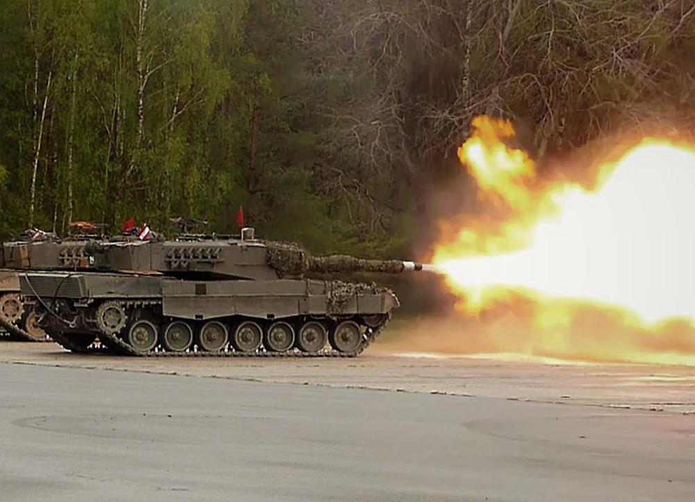 Leopard 2A4 im scharfen Schuss © Bundesheer