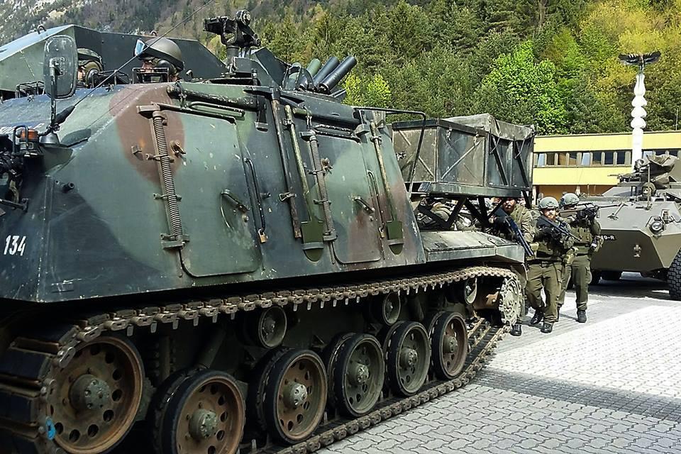 Auch Pionierpanzer und Mannschaftstransportpanzer Pandur kamen zum Einsatz © Bundesheer
