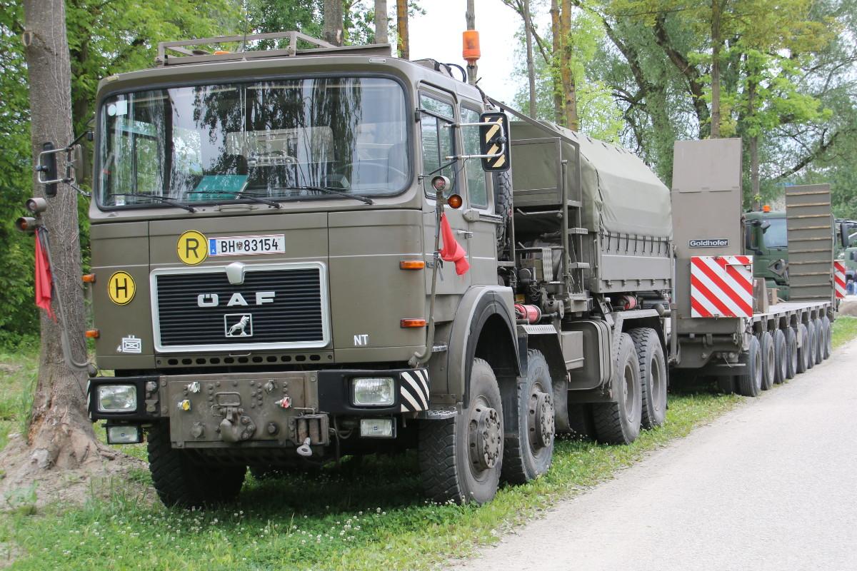 Geländegängiger Zugkraftwagen ÖAF 34.440 VFA mit Tiefladesystem 55t Goldhofer © Doppeladler.com