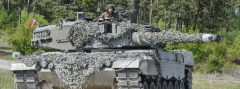 Kampfpanzer Leopard 2A4 des Bundesheeres bei der Strong Europe Tank Challenge (SETC) © US Army