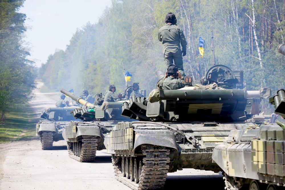 Kampfpanzer T-64BM mod aus der Ukraine © US Army