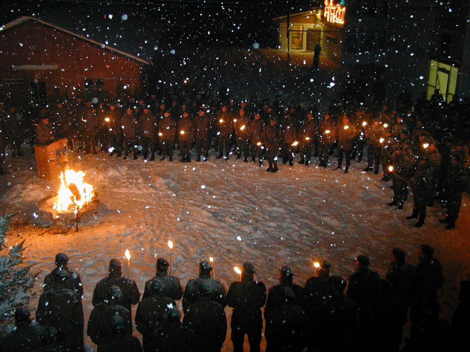 Weihnachten im Kosovo 2001 © Bundesheer