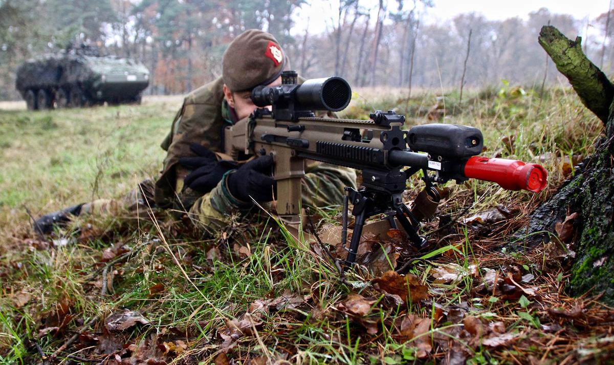 Belgischer Scharfschütze © Bataljon Bevrijding